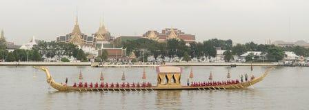 Tajlandzka Królewska barka wewnątrz Bangkok Fotografia Royalty Free