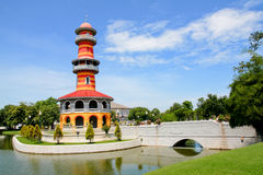 Tajlandzka Królewska siedziba przy uderzeniem w Royal Palace Zdjęcie Stock