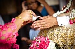 Tajlandzka kultura - tajlandzki ślubu styl Zdjęcie Royalty Free