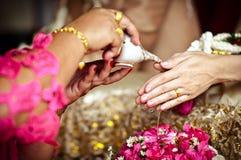 Tajlandzka kultura - tajlandzki ślubu styl fotografia royalty free