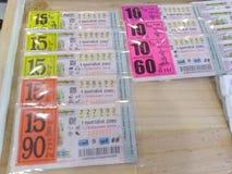 Tajlandzka loteryjki lub loterii nagroda 2 czasu w miesiącu zdjęcie stock
