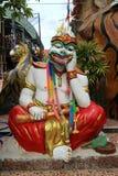 Tajlandzka małpia statuy świątynia w Tajlandia publicznie zdjęcie royalty free