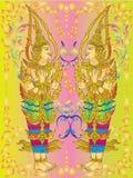 Tajlandzka malowidło ścienne świątynia   Obrazy Royalty Free