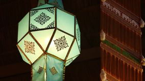 Tajlandzka nortern stylowa lampa zbiory wideo