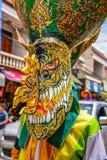 Tajlandzka northeastern tradycyjna Phi Ta Khon ducha festiwalu parada Zdjęcia Royalty Free