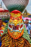 Tajlandzka northeastern tradycyjna Phi Ta Khon ducha festiwalu parada Zdjęcie Royalty Free