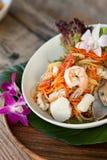 Tajlandzka owoce morza Som Tum sałatka Fotografia Stock