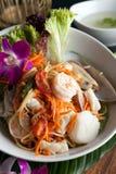 Tajlandzka owoce morza Som Tum sałatka Zdjęcie Stock