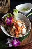 Tajlandzka owoce morza Som Tum sałatka Fotografia Royalty Free