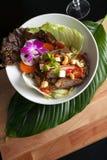 Tajlandzka owoce morza Som Tum sałatka Obrazy Stock