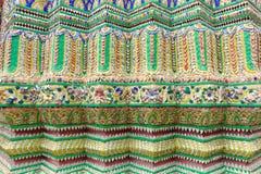 Tajlandzka patern ściana Fotografia Royalty Free