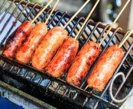 Tajlandzka piec na grillu kiełbasa zdjęcia stock