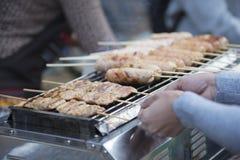 Tajlandzka piec na grillu wieprzowina, plama Fotografia Royalty Free
