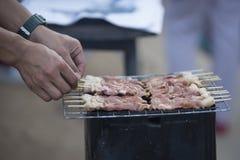 Tajlandzka piec na grillu wieprzowina, plama Obrazy Stock