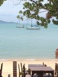 Tajlandzka plaża na Koh Samui Zdjęcia Stock
