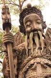 Tajlandzka rzeźba Bangkok - Wata pho świątynia - Fotografia Royalty Free