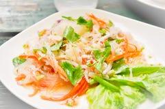 Tajlandzka sałatka, sałatka, korzenna sałatka Zdjęcia Stock