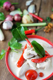 Tajlandzka stylowa kokosowego mleka polewka Zdjęcia Stock