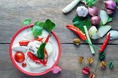Tajlandzka stylowa kokosowego mleka polewka Zdjęcie Royalty Free