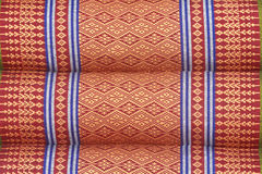 Tajlandzka stylowa ręcznie robiony bawełniana grafika na poduszki teksturze Fotografia Stock