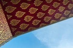Tajlandzka stylowa sztuka na dachu Obraz Royalty Free