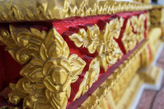 Tajlandzka stylowa sztuka w świątyni Zdjęcie Royalty Free