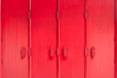 Tajlandzka sztuka na czerwieni ścianie Obrazy Stock