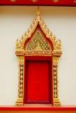 Tajlandzka sztuka tajlandzki świątynny drzwi Obraz Stock