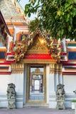 Tajlandzka sztuki świątynia, Bangkok, Tajlandia (świątynia Wat Pho) Zdjęcie Royalty Free