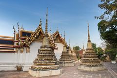 Tajlandzka sztuki świątynia Bangkok z Jedi, Tajlandia (świątynia Wat Pho) Zdjęcia Stock