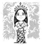 Tajlandzka taniec centrala lub Srivichai postać z kreskówki kostiumowy projekt ilustracja wektor
