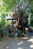 Tajlandzka tku ogródu i domu mieszanka Fotografia Royalty Free