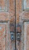 Tajlandzka tradycyjna stara drewniana ściana Zdjęcia Stock