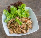 Tajlandzka wieprzowiny sałatka Obrazy Stock