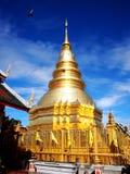 Tajlandzka złocista pagoda zdjęcia royalty free