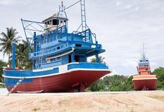 tajlandzki łódkowaty połów Zdjęcie Stock