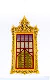 Tajlandzki świątynny złoty okno Obrazy Royalty Free