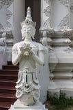 Tajlandzki anioł w Wata Sri Don księżyc, Chiangmai Tajlandzka świątynia Fotografia Stock