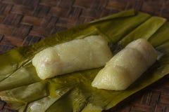 tajlandzki bananowy deserowy liść zdjęcie stock