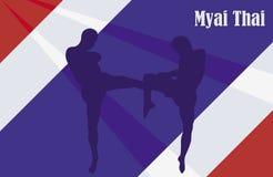 Tajlandzki boks ilustracji