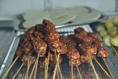 Tajlandzki chłodny wołowiny BBQ skewer zdjęcie royalty free