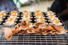 Tajlandzki Crispy blin Zdjęcia Stock