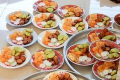 Tajlandzki cukierki w talerzach Obrazy Royalty Free