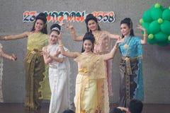 Tajlandzki damy kultury taniec Fotografia Royalty Free
