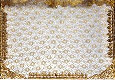 Tajlandzki deseniowy deotration bielu drewno Zdjęcia Royalty Free