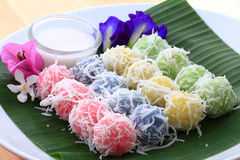 Tajlandzki deser, Kanomtom. Zdjęcie Royalty Free