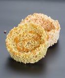 Tajlandzki deser - ryżowy krakersa lub ryż ciastko Obraz Royalty Free