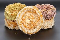 Tajlandzki deser - ryżowy krakersa lub ryż ciastko Obraz Stock