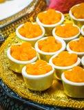 Tajlandzki deser, Tong yip lub Kwitnie jajecznego yolk tarta zdjęcia stock