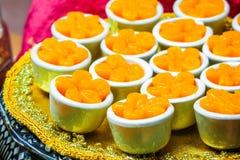 Tajlandzki deser, Tong yip lub Kwitnie jajecznego yolk tarta zdjęcie stock